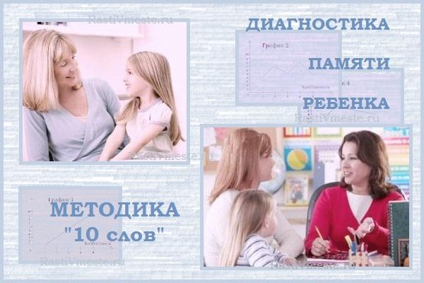 диагностика памяти методика 10 слов, методика 10 слов, диагностика памяти, диагностика памяти ребенка